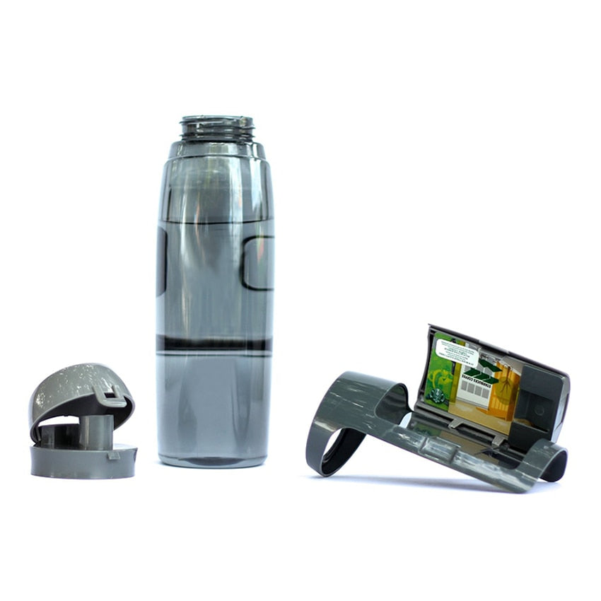 Water Bottle with Built-In Wallet