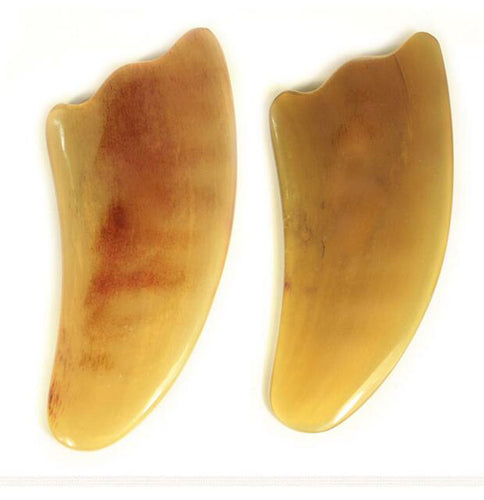 AddFavor Natural Ox Horn Body Gua Sha Tools Scraping Health Care Guasha Massage Pad Neck Back Massager Face Body Therapy Tool