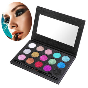 ETEREAUTY 15 Colors Eyeshadow Palette Cosmetic Makeup Shimmer Glitter Powder Kits