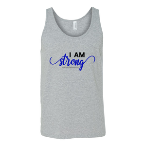 'I Am Strong' Canvas Unisex Tank