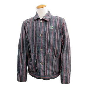 SIDE TAB SHORT JACKET CS-03 Green/Black Stripe