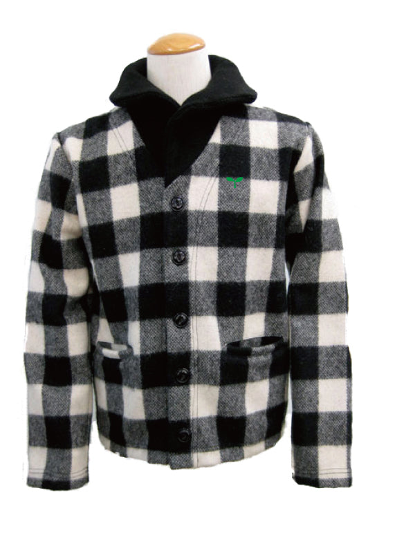 RIB JACKET CS-04  Black/White Check