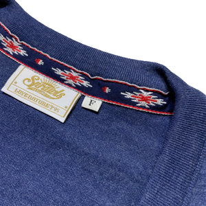 Tri-Blend Cardign  SSL-298(C) Heather-Navy