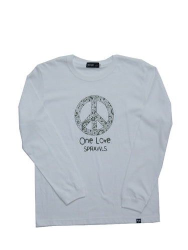One Love L/S T-Shirts  SFL-264(L) White