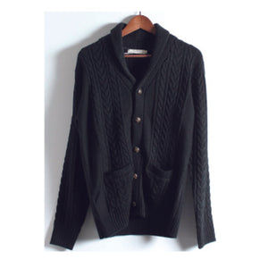 CABLE Shawl Collar Sweater SFL-351