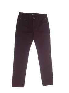 Washed Stretch Denim Slim PantsSGS-011(a) Wine Red