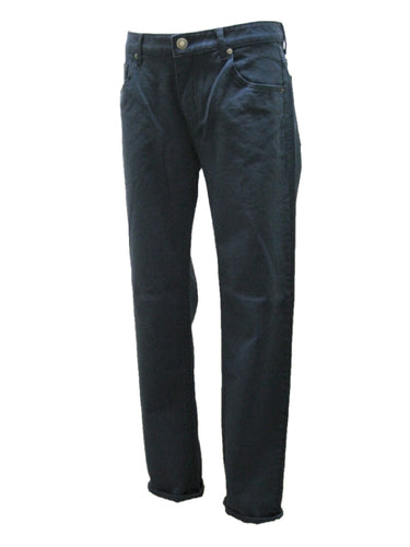 Washed Stretch Denim Slim Pants SGS-011(a) Navy