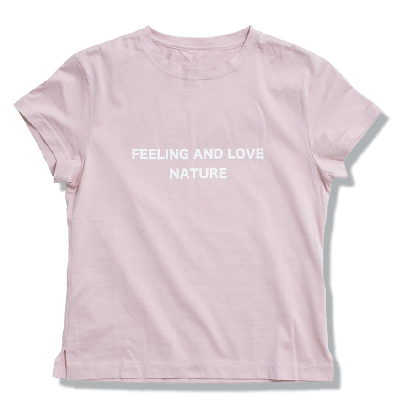 Love Natue Ladys Tee SHL-004(G) pink