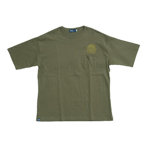SUN WAVE BIG SILHOUTEE Mens Tee SSL-313(S) Khaki