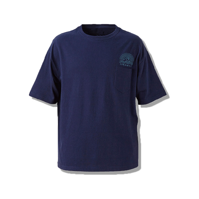 SUN WAVE BIG SILHOUTEE Mens Tee SSL-313(S) Navy
