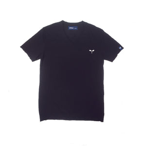 スラブ V_Neck Tee SSL-321(S) Black