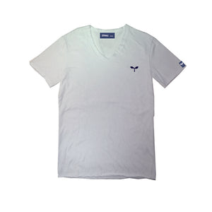 スラブ V_Neck Tee SSL-321(S) White