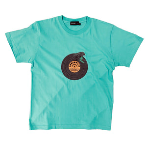 Record wave graphic Tee 5.6oz SSL-412