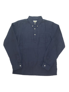 Hemp PullOver B/D Shirts STD-26  Light-Navy