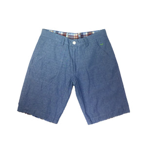 Reversible Shorts STD-028 Light Blue/ Red Madras Check