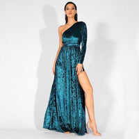 Strapless Cut Out Velvet Fabric Jumpsuit