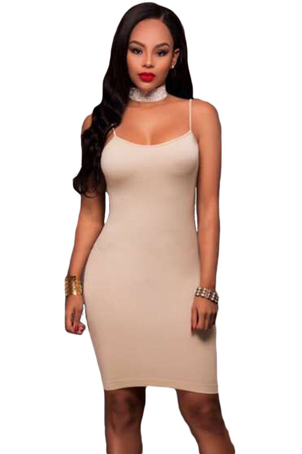 Apricot Seamless Body Con Dress Laveliq Clearance - Laveliqus