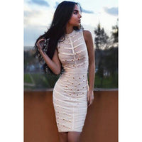 Apricot Knee Length Bandage Dress LAVELIQ SALE - LAVELIQ