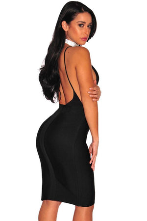 Black Gold Button Slit Bandage Skirt LAVELIQ - Laveliqus