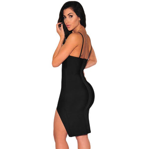 Black Slit Bandage Dress LAVELIQ  - LAVELIQ - 2