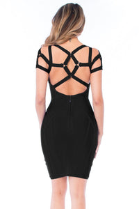Black Strappy Bandage Dress LAVELIQ - Laveliq