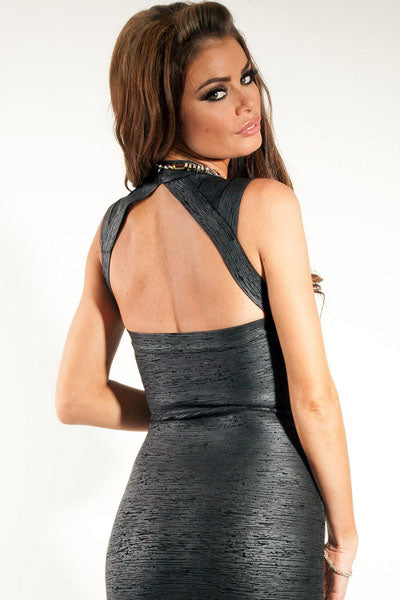 Club Party Metallic Black Bandage Dress LAVELIQ - Laveliqus