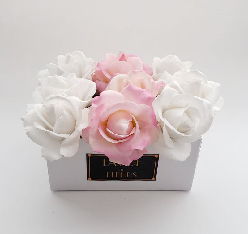 Real Touch Artificial Fake Flowers Roser Floral Arrangement In The Box