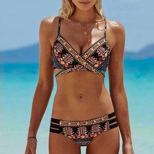 Popular Women Push-Up Padded Bra Beach Bikini Set