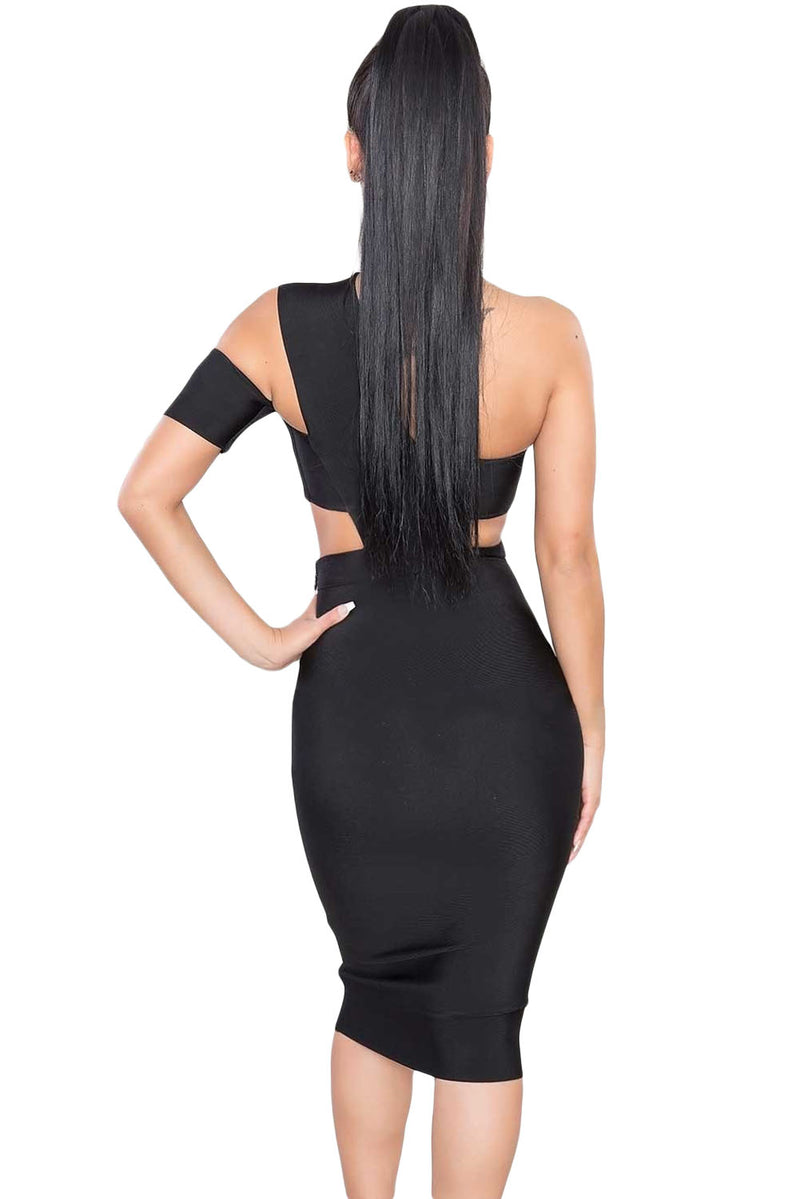 Sexy Choker Neck Cut Out Bandage Party Dress LAVELIQ - Laveliqus