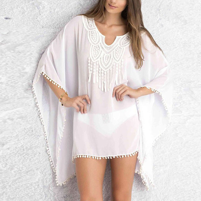 Sexy Women Kaftan Sarong Blouses Bathing Suit