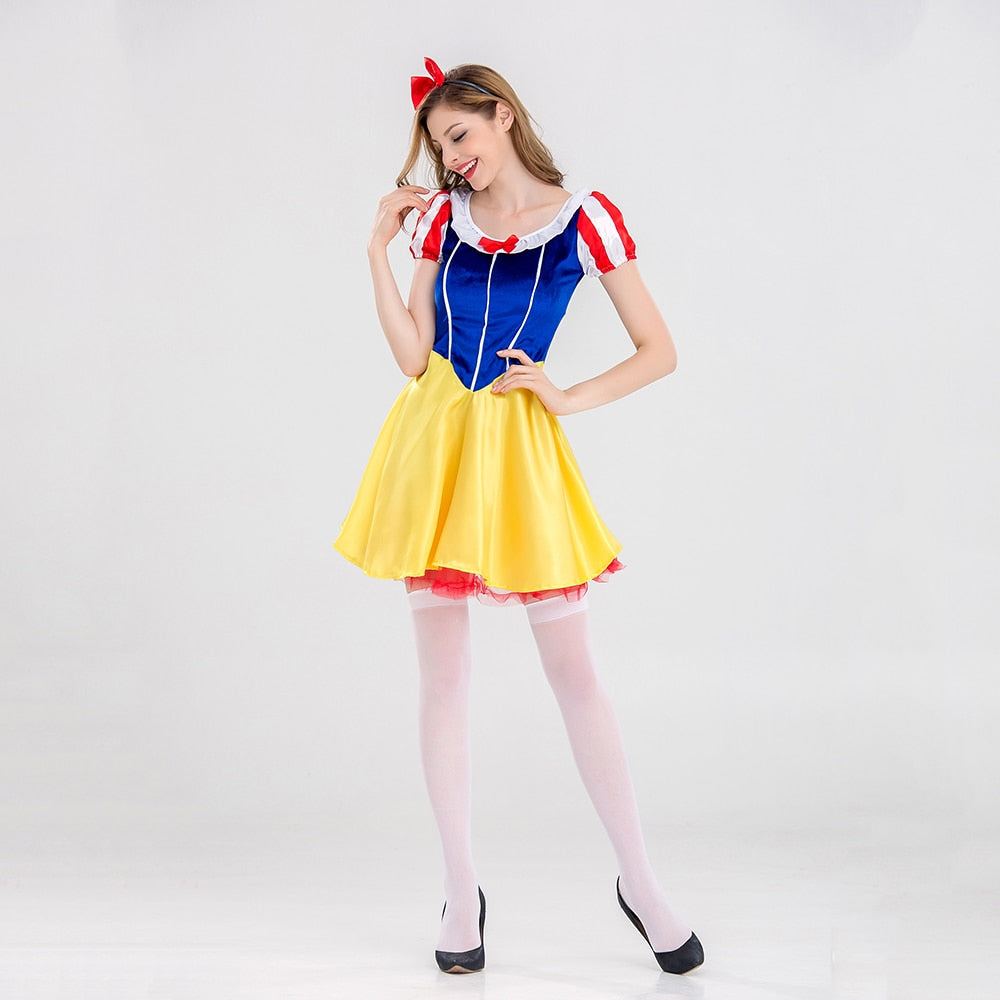 VASHEJIANG Adult Fairy Tale Princess Snow White Costume Sexy Snow White Princess Cosplay Women Halloween Carnival Costumes