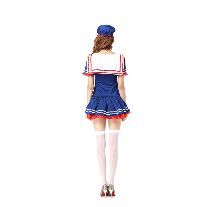Women Sexy Fancy Uniform Adult sailor costume Sexy Cute Sailor Costume Nautical Marine Navy Costume halloween costumes for women
