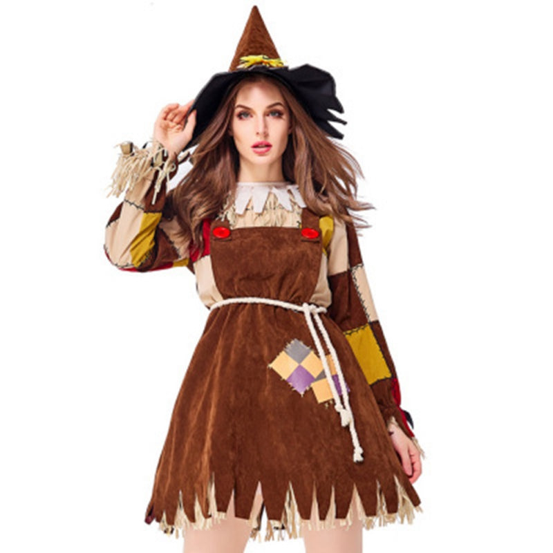 Halloween Witch Costume Parent-children Clothing Plus Size XL-XS   Sexy Dress Hat Carnival Party Performance Female Suit