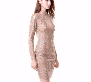 Sexy Geometry Sequined Halter Party Dress Laveliq - Laveliqus