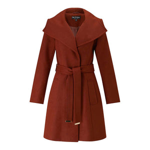 Drawstring Coats Women Long Sleeve Female Longline Outwear Laveliq - Laveliqus