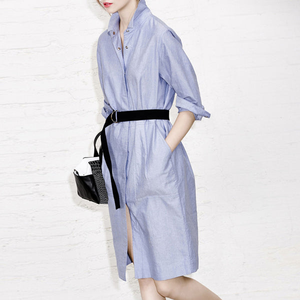 Fashion Blue Knee-lengt Dress LAVELIQ