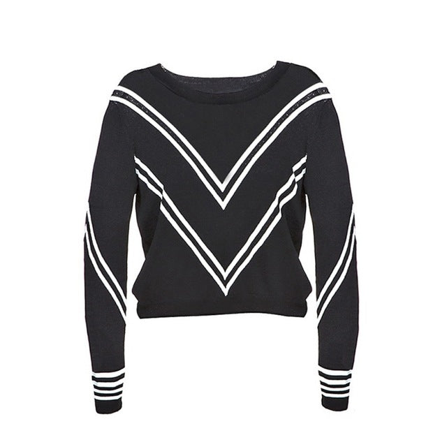 Striped Tops Women Long Sleeve Female Pullover Laveliq - Laveliqus