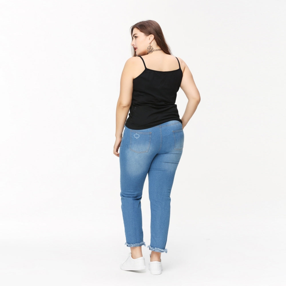 Plus Size Skinny Jeans Women Big Size Denim Trousers Laveliq - Laveliqus