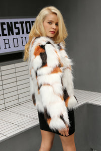 Elegant Fluffy Faux Fur Long Sleeve Winter Coat  LAVELIQ - Laveliqus