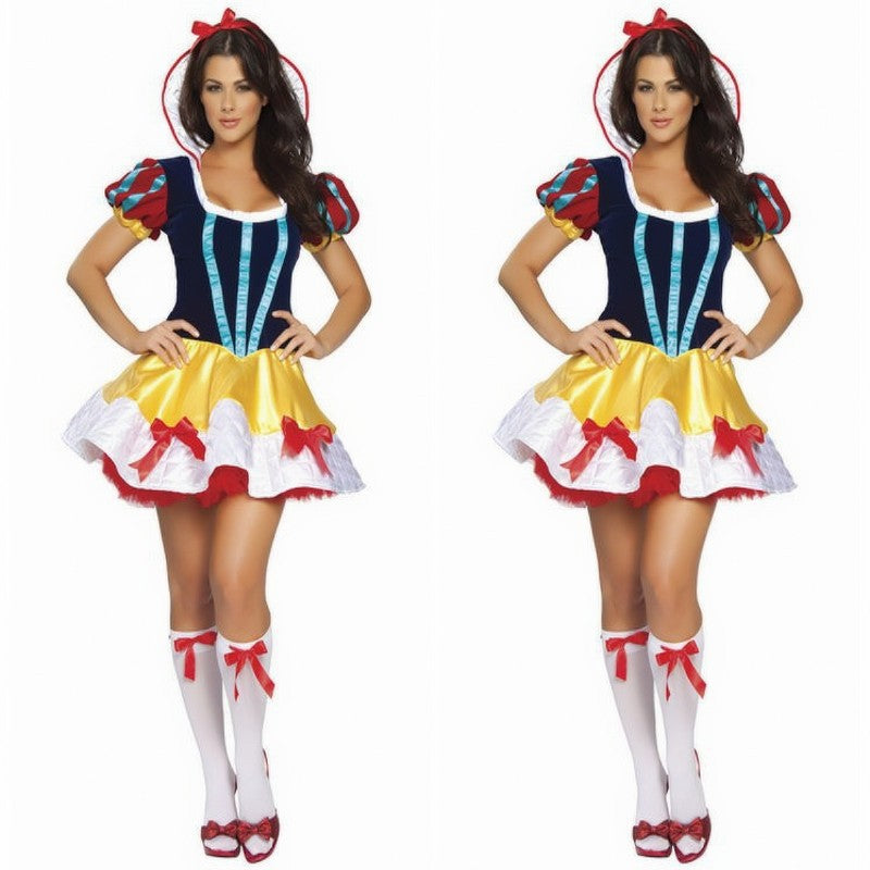New TV show costumes halloween costumes for women sexy adult snow white Princess Fairy Tale Deluxe costume Dress