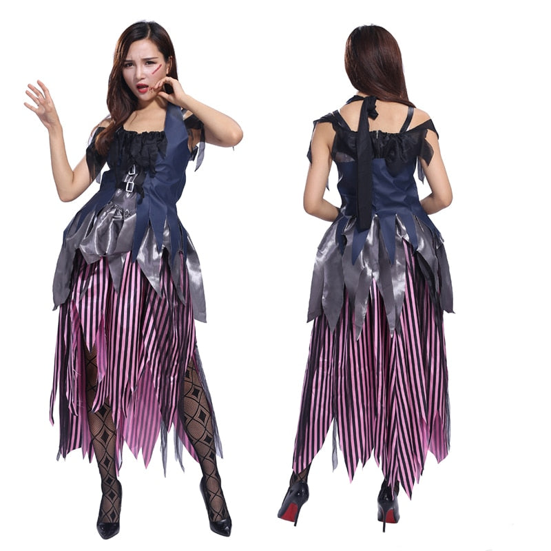 AliExpress new Halloween costume Cosplay adult female witch witch clothes dress black gauze dress witch costume female violence