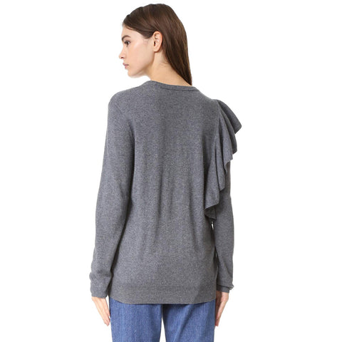 Autumn Solid Gray Women Sweater LAVELIQ