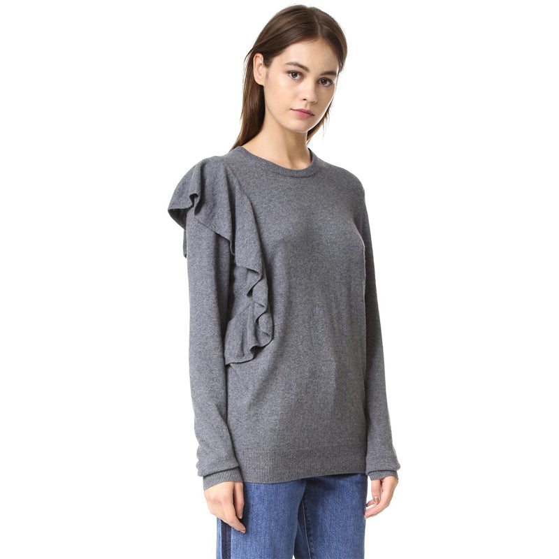 Autumn Solid Gray Women Sweater LAVELIQ - Laveliqus