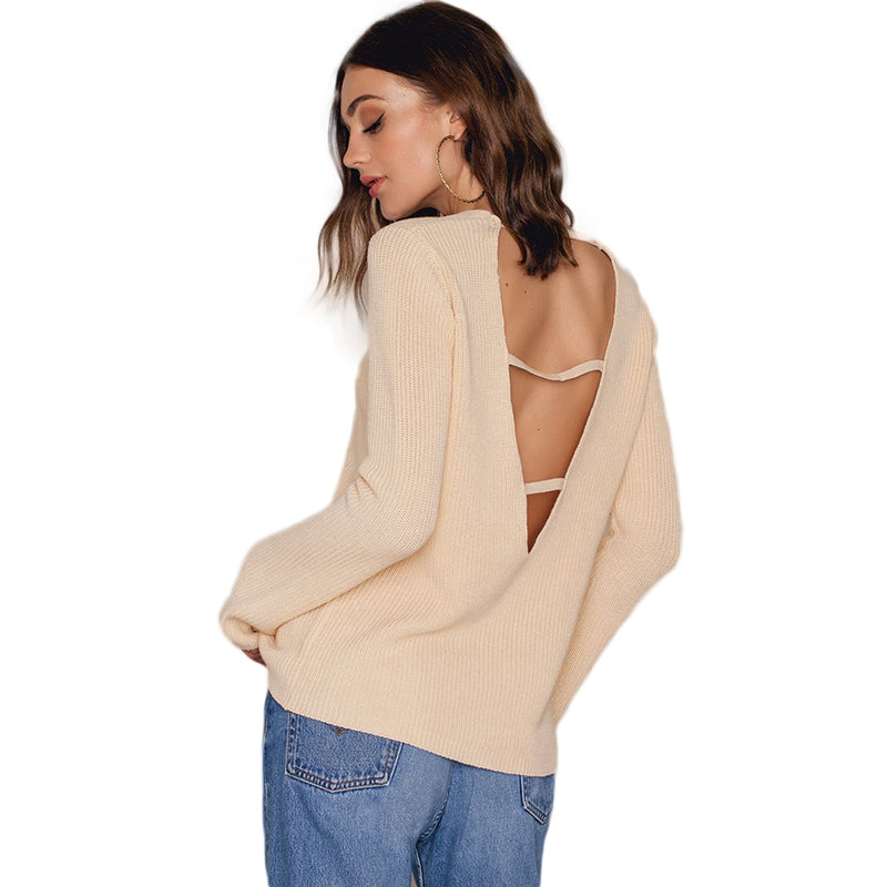 Solid Color Women Sweaters LAVELIQ - Laveliqus