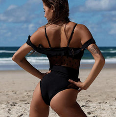 Brand Lace One Piece Swimsuit Swimwear LAVELIQ - Laveliqus