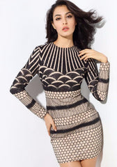 Sexy Geometric Bead Material Party Dress LAVELIQ