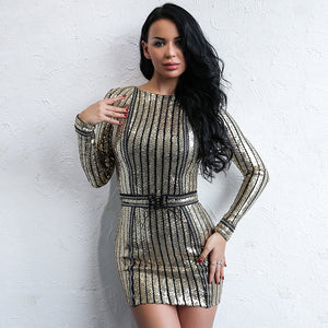 Best Party Queen Long Sleeve Dress LAVELIQ - Laveliqus