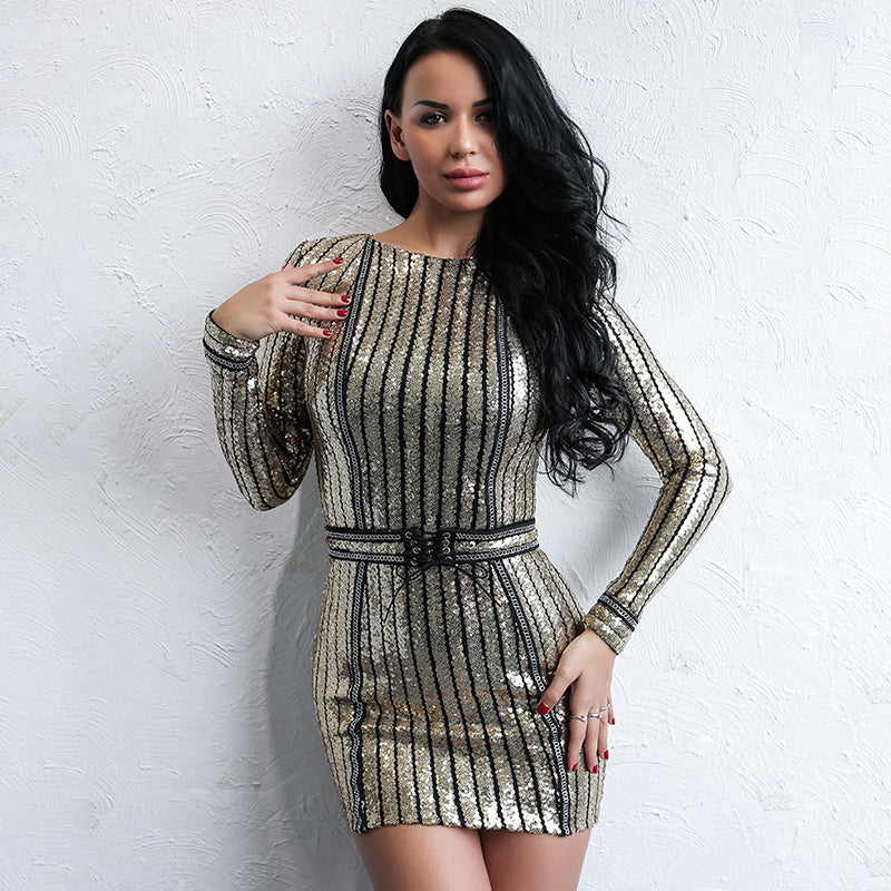 Best Party Queen Long Sleeve Dress LAVELIQ