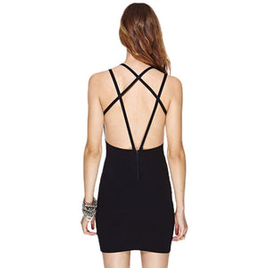 Cross Backless Women Mini Dress LAVELIQ - Laveliqus