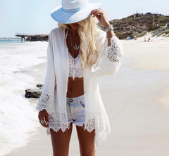 Beach cover up Crochet Tunic LAVELIQ